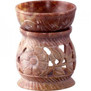 Carved Flowers Soapstone Diffuser Lamp - The Posh Lyfe Style