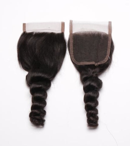 Brazilan Mink Swiss 4*4 Loose Wave Lace Closure - The Posh Lyfe Style