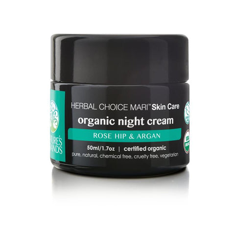 Organic Night Cream Rose Hip and Argan - The Posh Lyfe Style