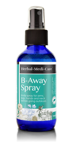 B-Away (Bug Away) Spray 118ml/4oz Glass Spray Bottle - The Posh Lyfe Style