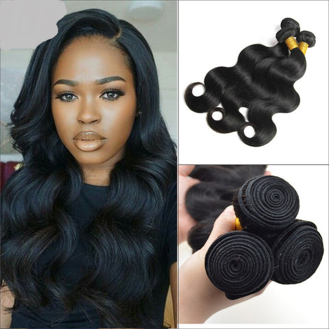 3 Bundles Deal Peruvian Virgin Hair Natural Color Body Wave Hair Extension - The Posh Lyfe Style