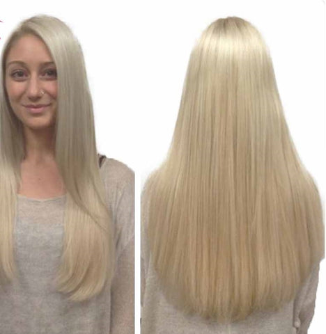 Full Lace Wig 10A Mink Brazilian Hair Silky Straight Blonde - The Posh Lyfe Style