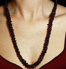 Garnet Seed Necklace - The Posh Lyfe Style