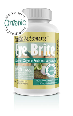Eye Brite 120 Vegetarian Capsules(Made with Organic) - The Posh Lyfe Style