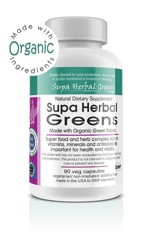 Super Herbal Greens 90 Veg Capsules (Made With Organic) - The Posh Lyfe Style