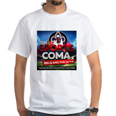 The Sports Coma Summer-Time White Tee - The Posh Lyfe Style