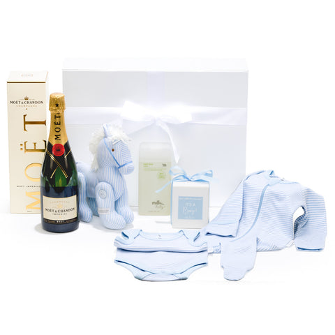 Luxurious baby boy gift hamper