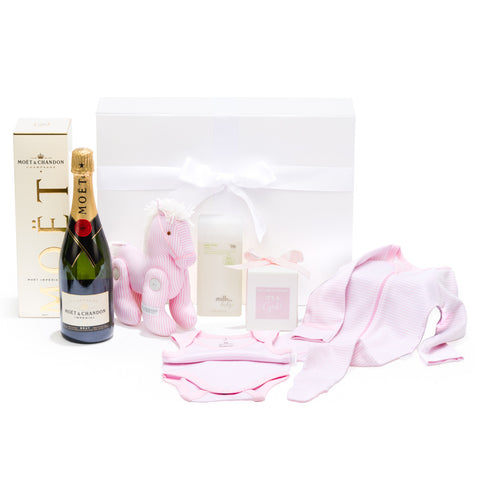 Luxurious baby girl beautiful pink hamper