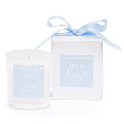 New baby gifts - Its a boy candle