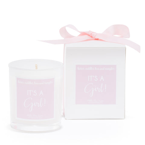 New baby gifts - Its a girl candle
