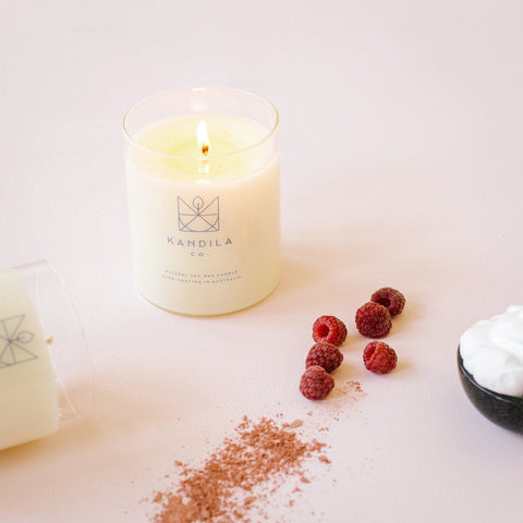 Raspberry & Cream Candle