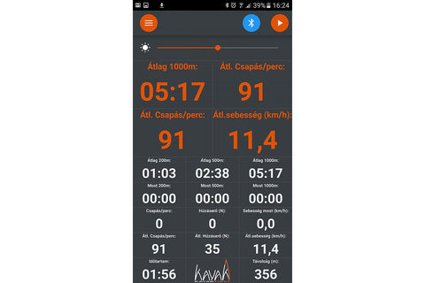 PERFORMANCE MEASUREMENT option (driver for Android app)