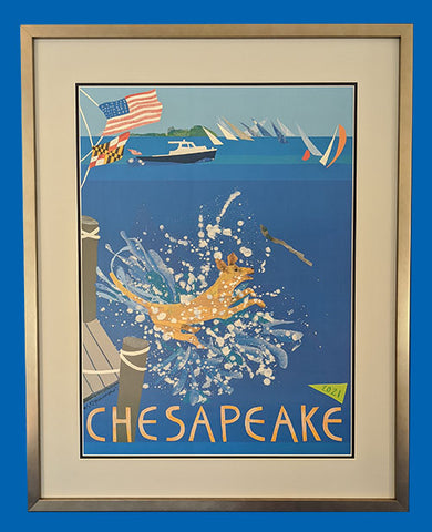The 2021 Chesapeake Poster V.2 Frame Only