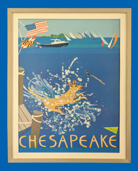The 2021 Chesapeake Poster, Framed Version 3