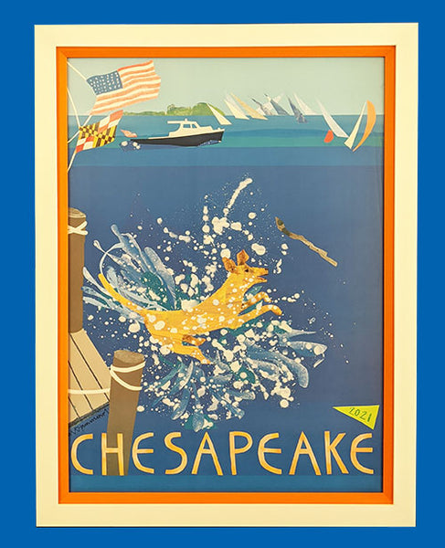 The 2021 Chesapeake Poster V.4 Frame Only