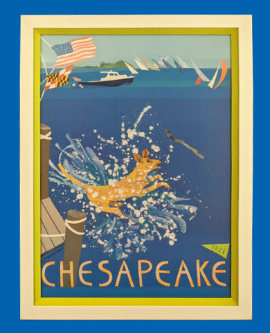 The 2021 Chesapeake Poster V.5 Frame Only