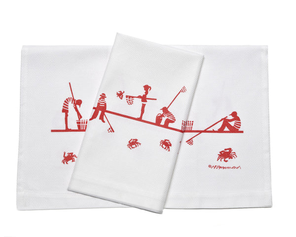 Children Crabbing Dish Towel