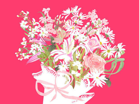 Bouquet on Pink
