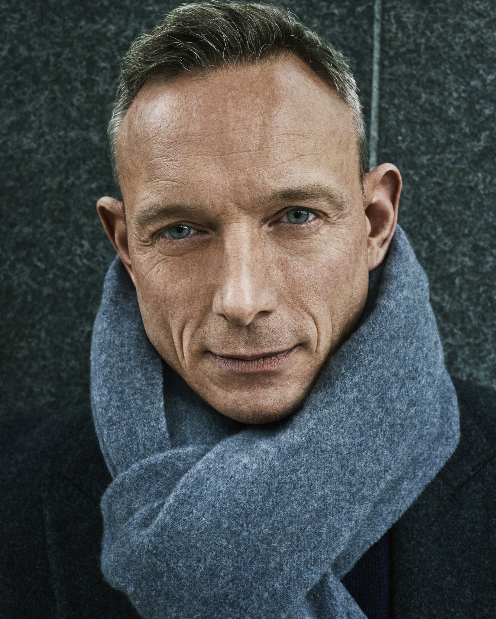 Dr Andrew Cook wearing Janne Cashmere Blend Scarf & Gilles Wool Overcoat by SALLE PRIVÉE