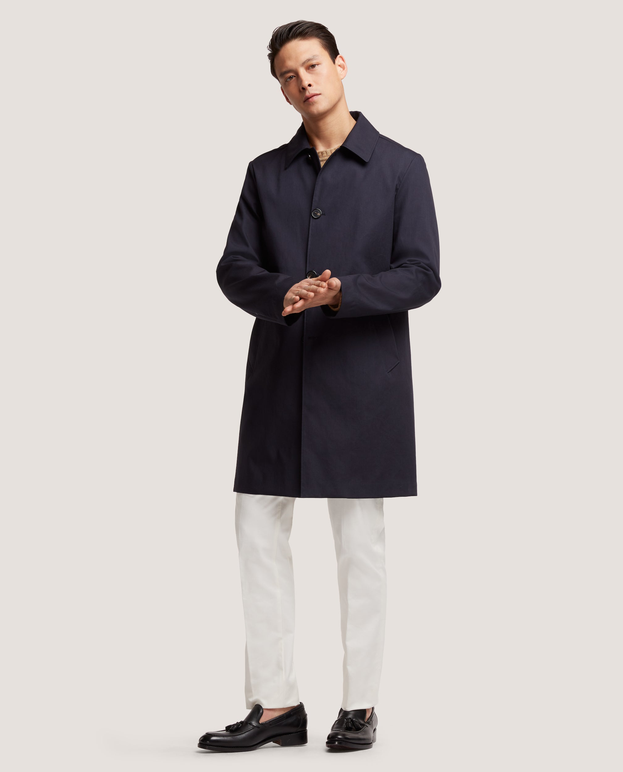 MATHYS Raincoat | Technical cotton | Night Blue