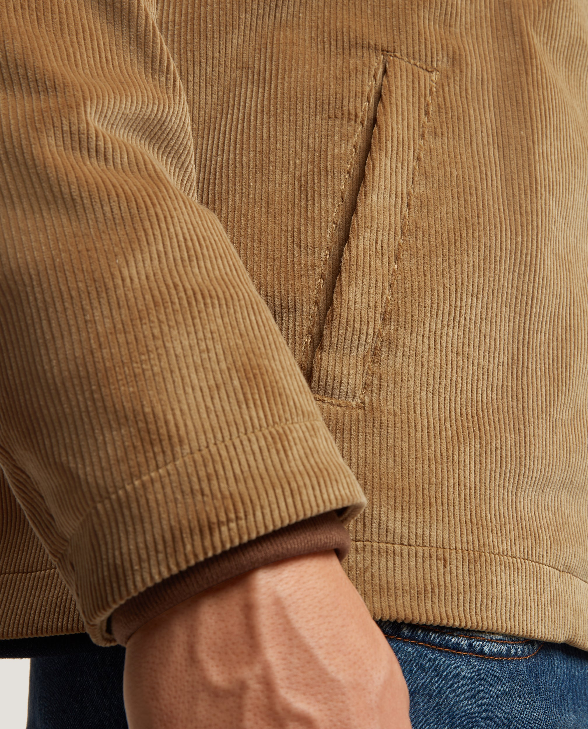 HARVEY Blouson jacket | Corduroy | Tan