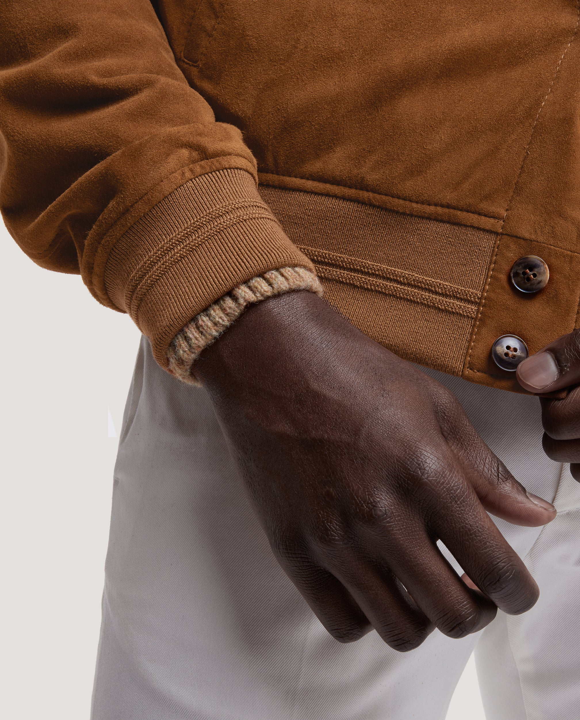 EERO Lamb suede jacket | Golden Brown