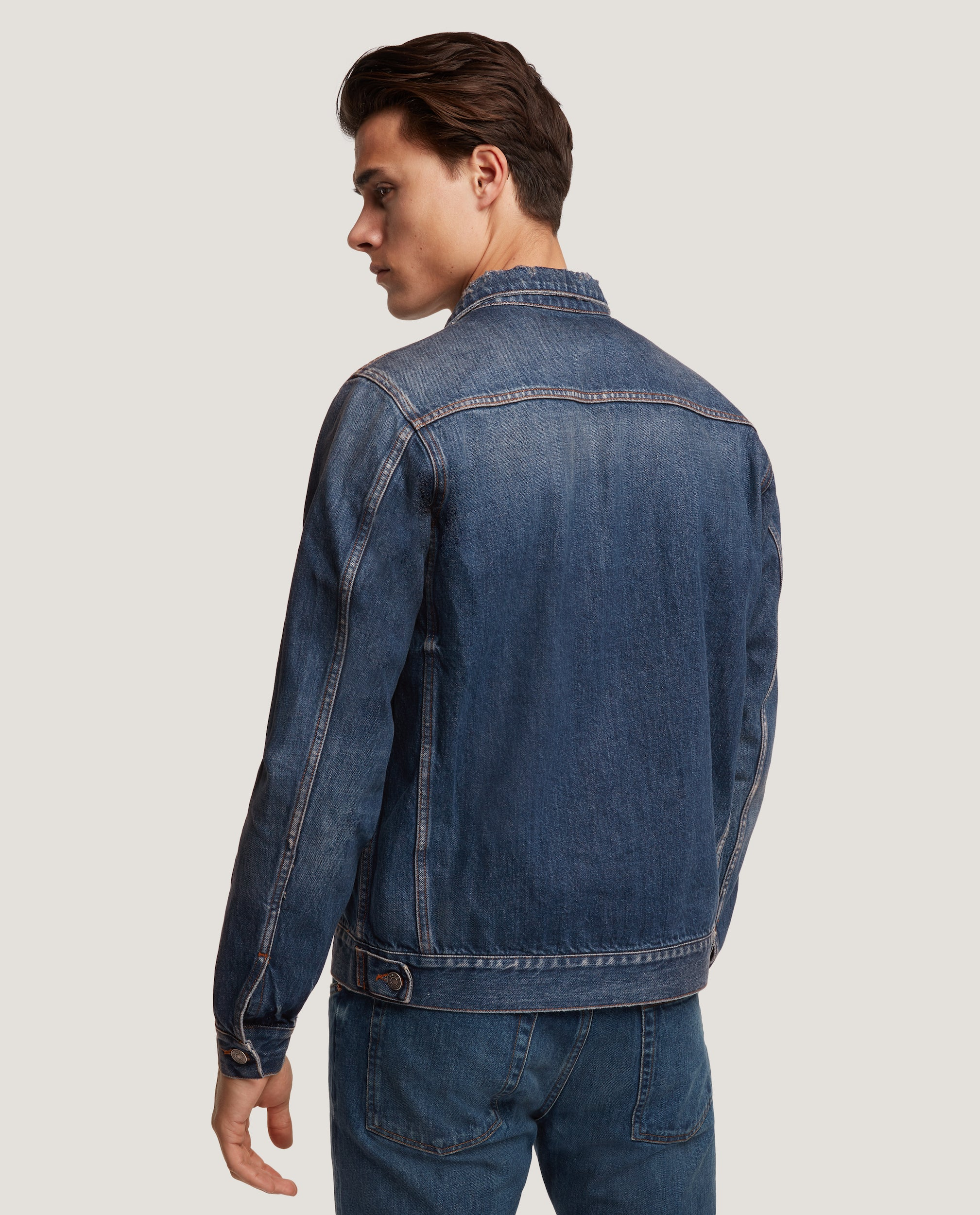 ZACH denim jacket | Blue distressed