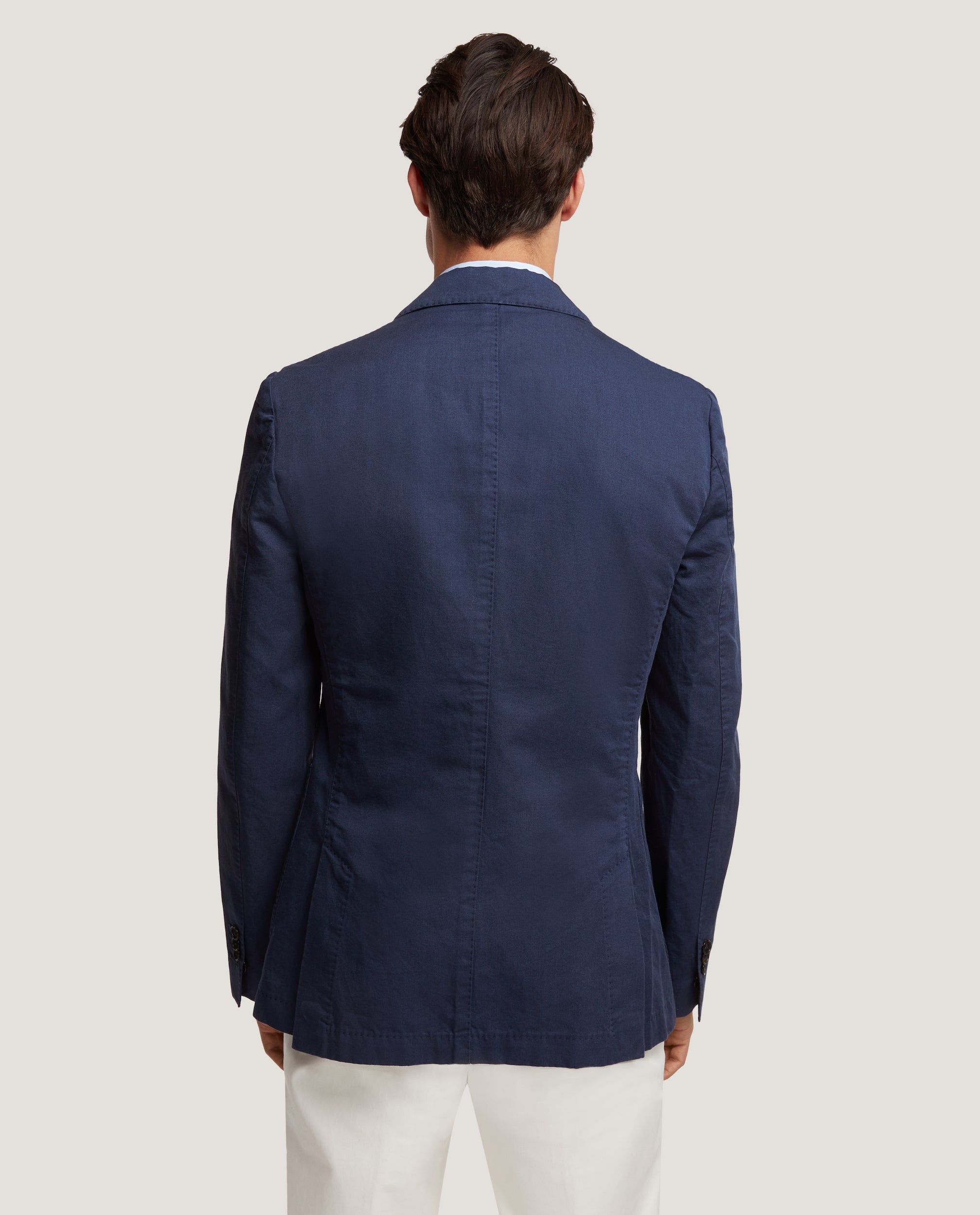 ROSS Unstructured blazer | Cotton Linen | Blue