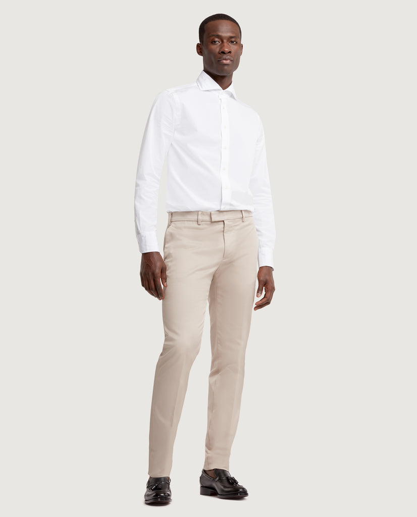 GEHRY Chino trousers | Slim fit | Cotton twill | Pebble by Salle Privée