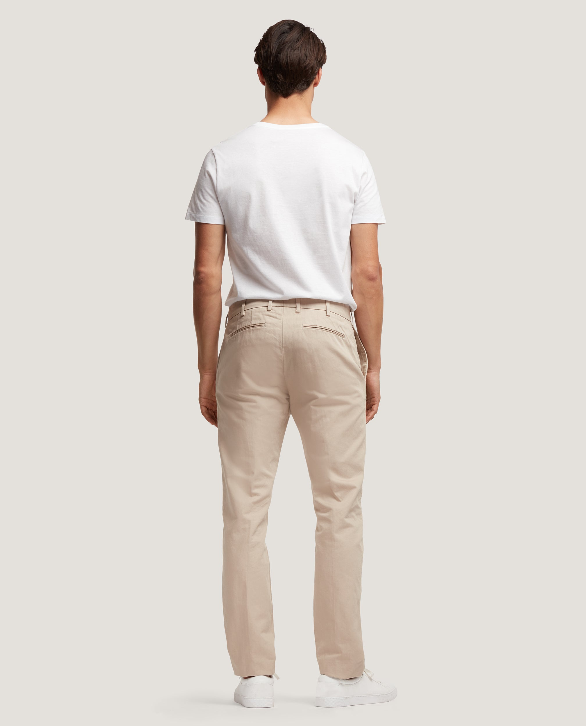 GEHRY Chino trousers | Slim fit | Cotton-linen blend | Sand