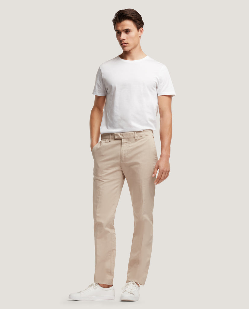 GEHRY Chino trousers | Slim fit | Cotton-linen blend | Sand by Salle Privée