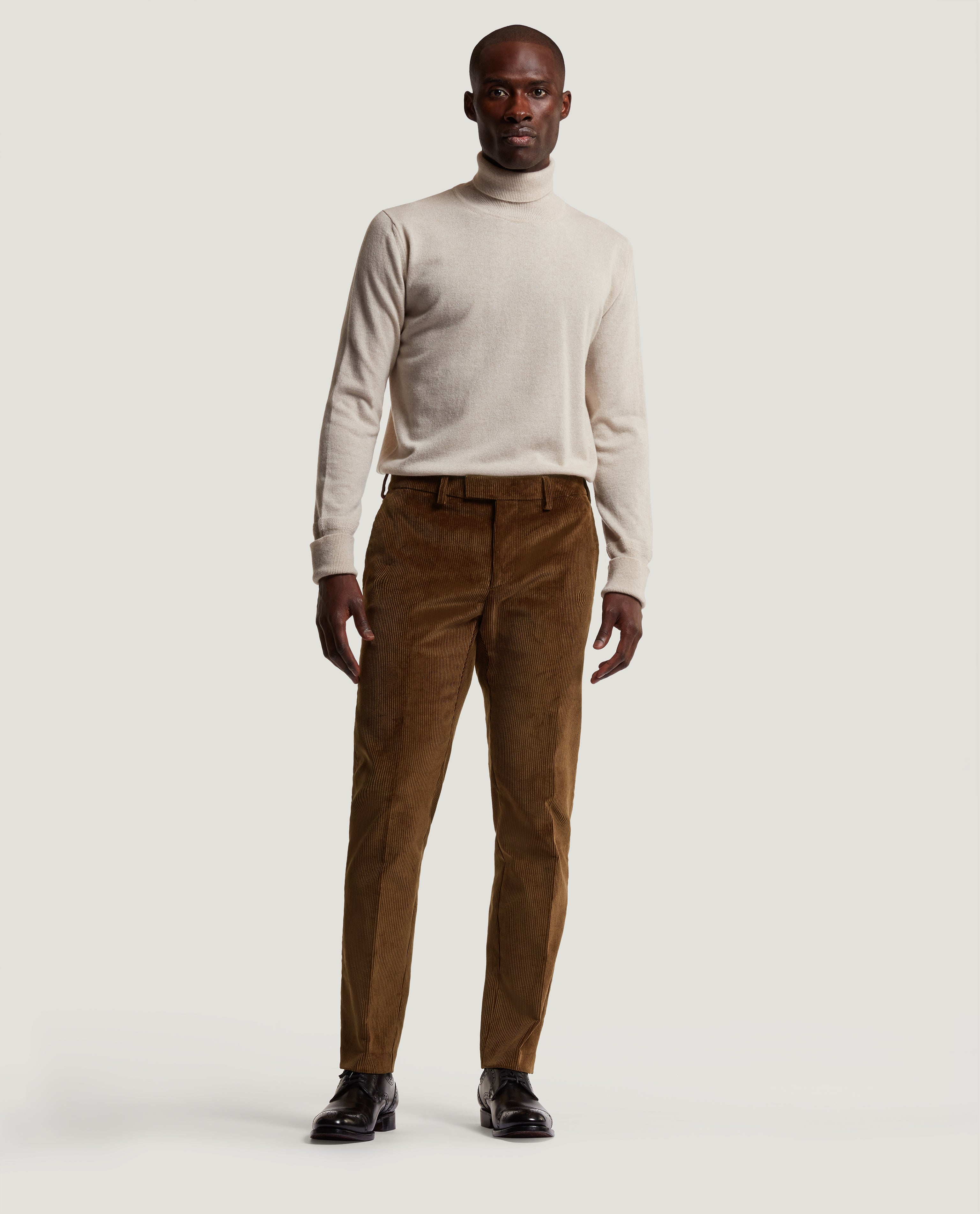 GEHRY Chino | Slim fit | Corduroy | Brown