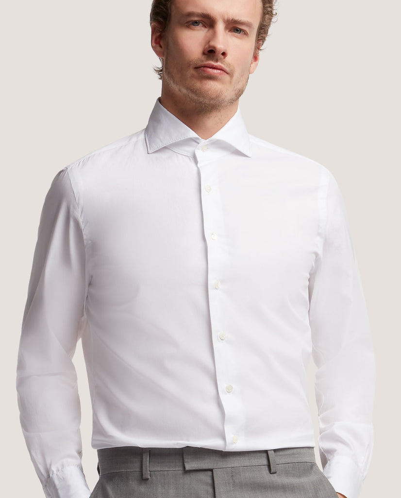 EVRON Slim fit shirt | Cotton twill by Salle Privée