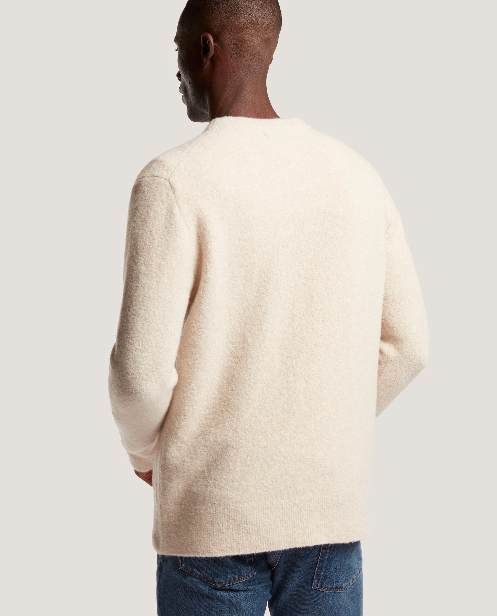 AREN Wool Boucle Sweater | Natural