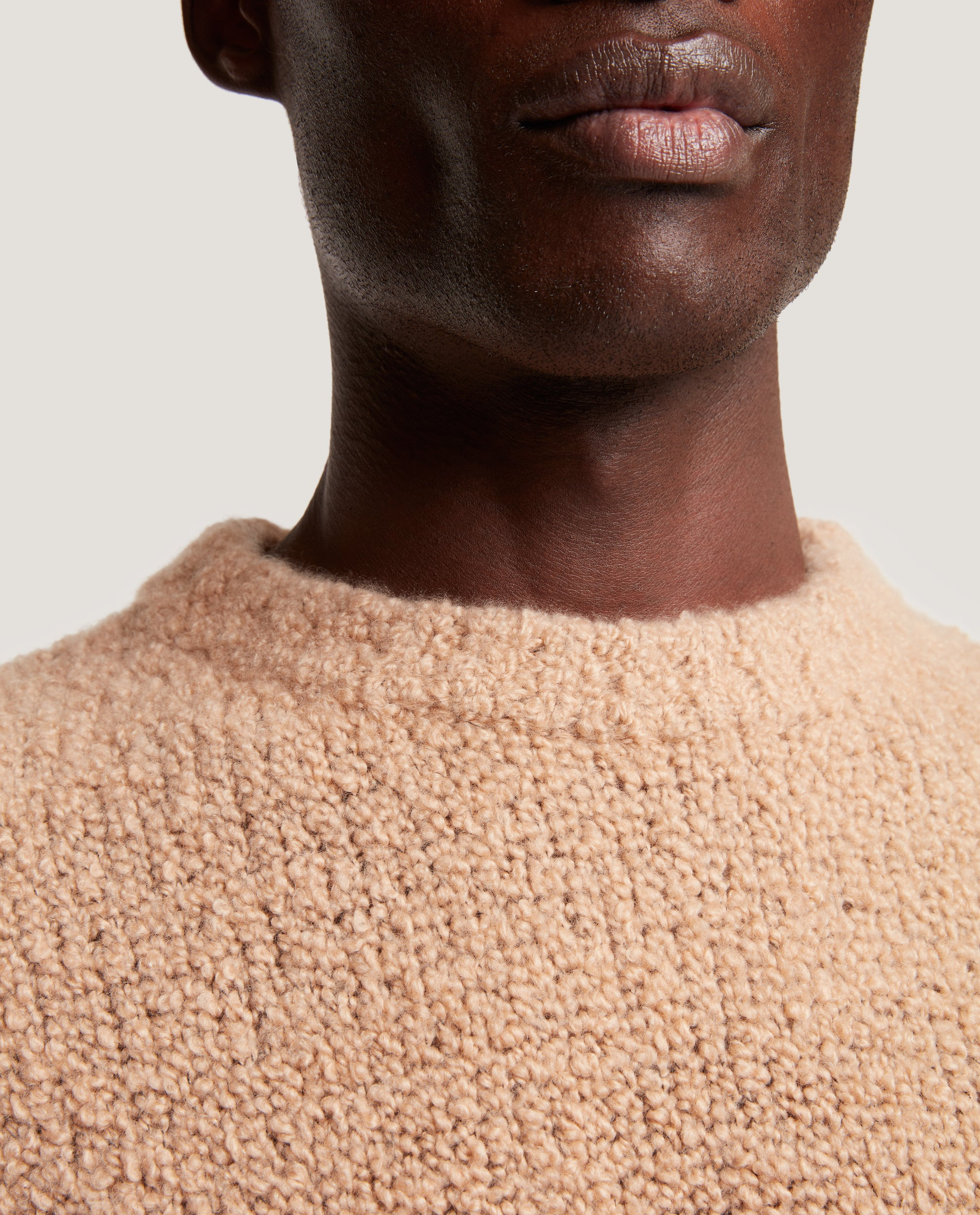AREN Wool Boucle Sweater | Camel