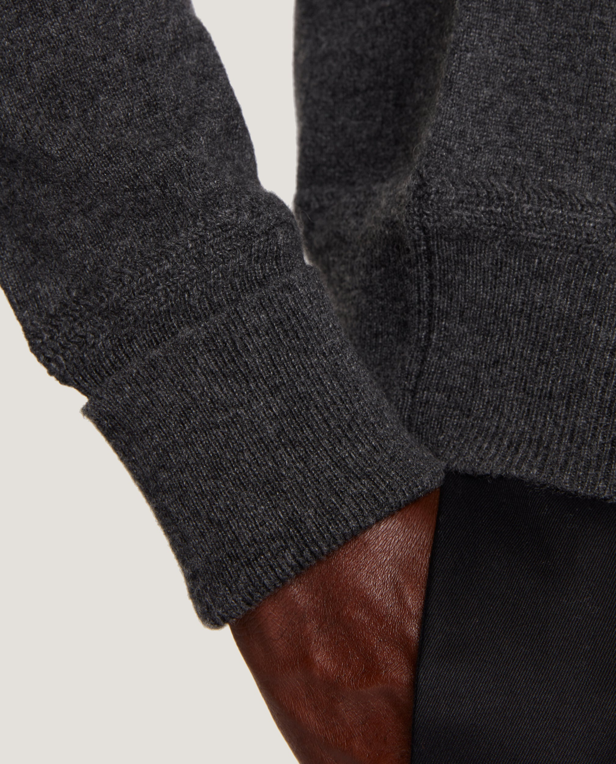 ARVID Rollneck sweater | 100% Cashmere | Dark Grey Melange