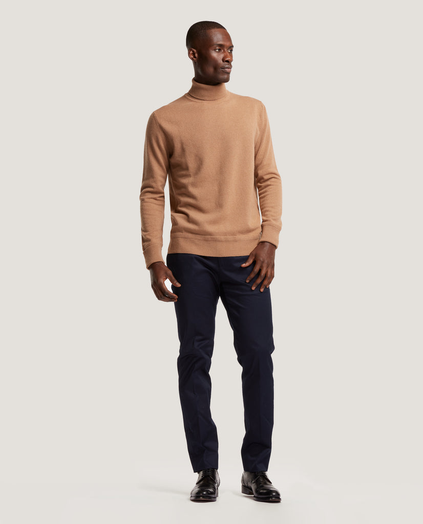ARVID Rollneck sweater | 100% Cashmere | Camel by Salle Privée