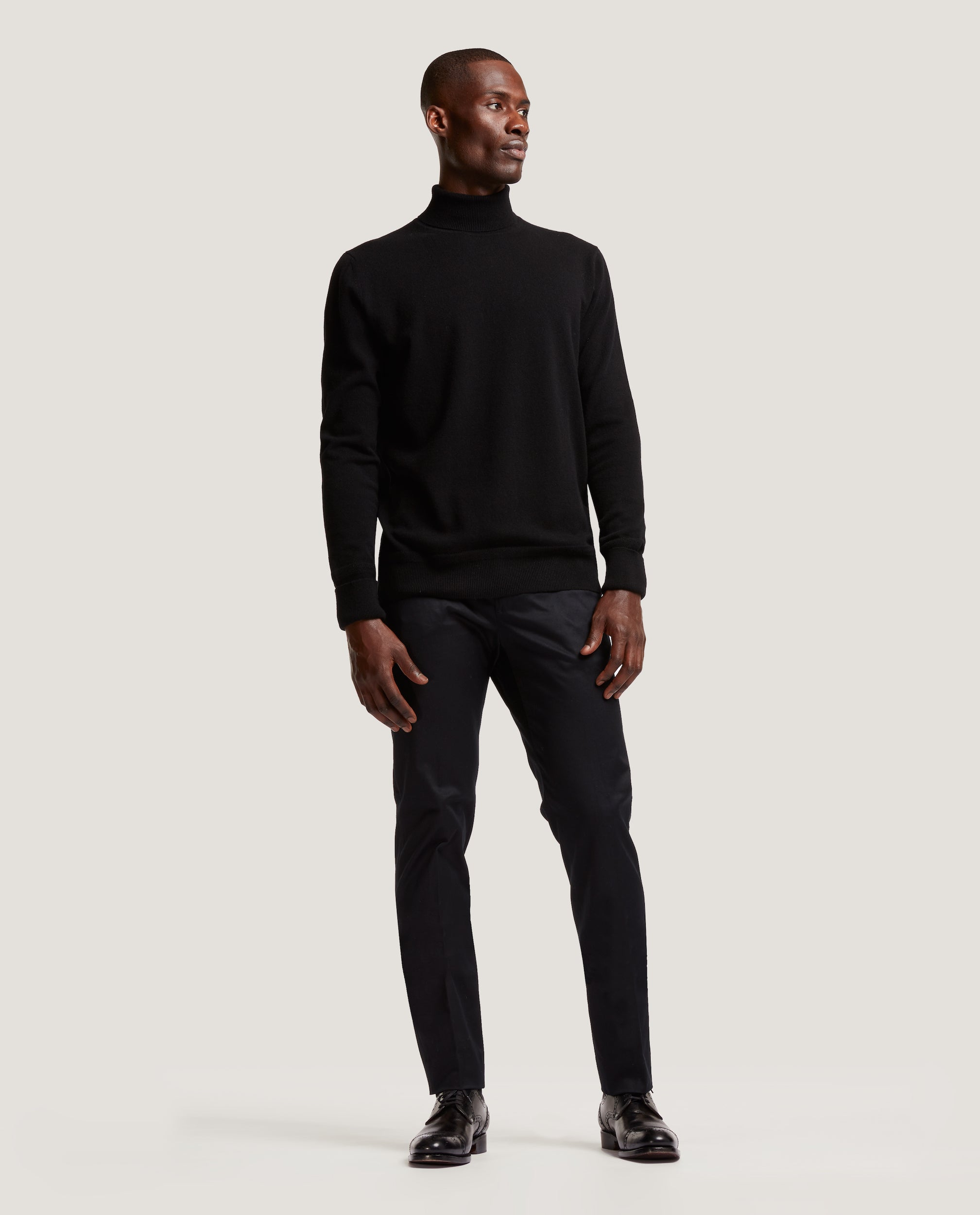 ARVID Rollneck sweater | 100% Cashmere | Black