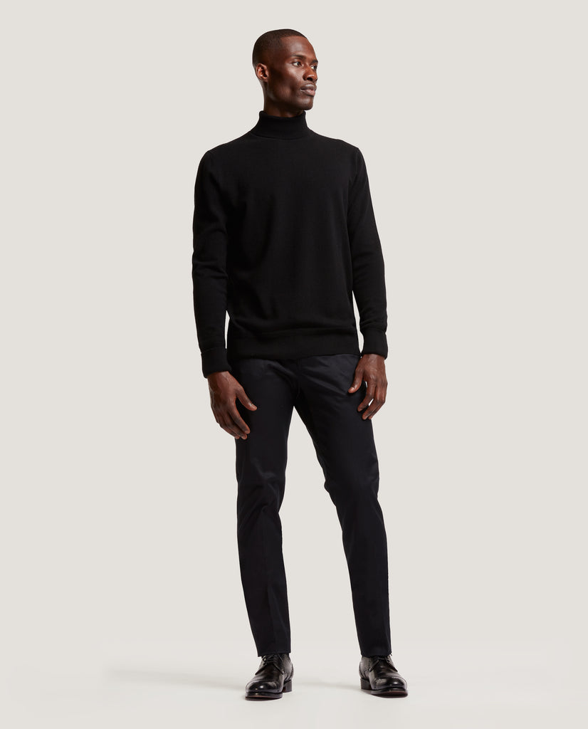 ARVID Rollneck sweater | 100% Cashmere | Black by Salle Privée