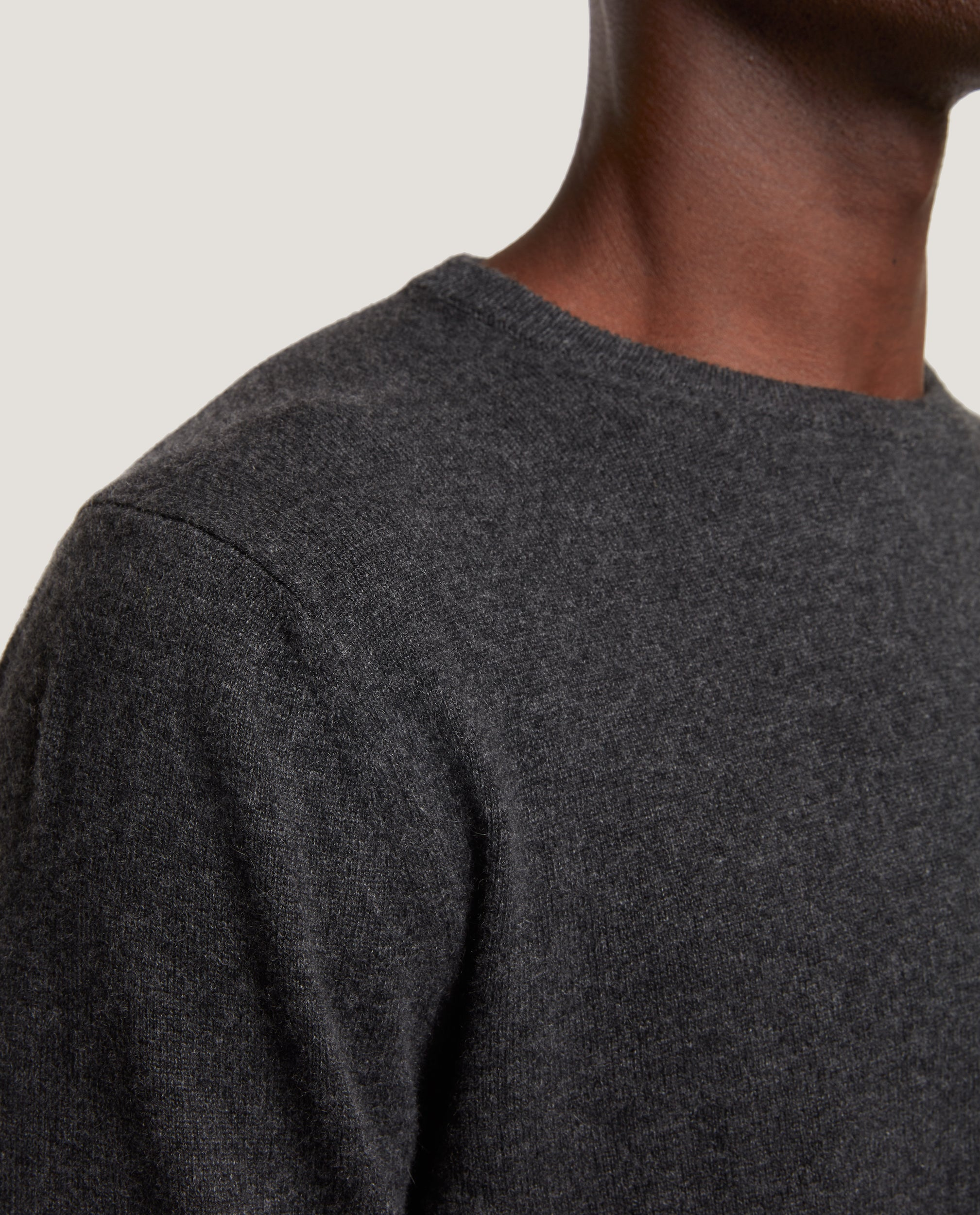 CESAIRE Crewneck sweater | 100% Cashmere | Dark Grey Melange