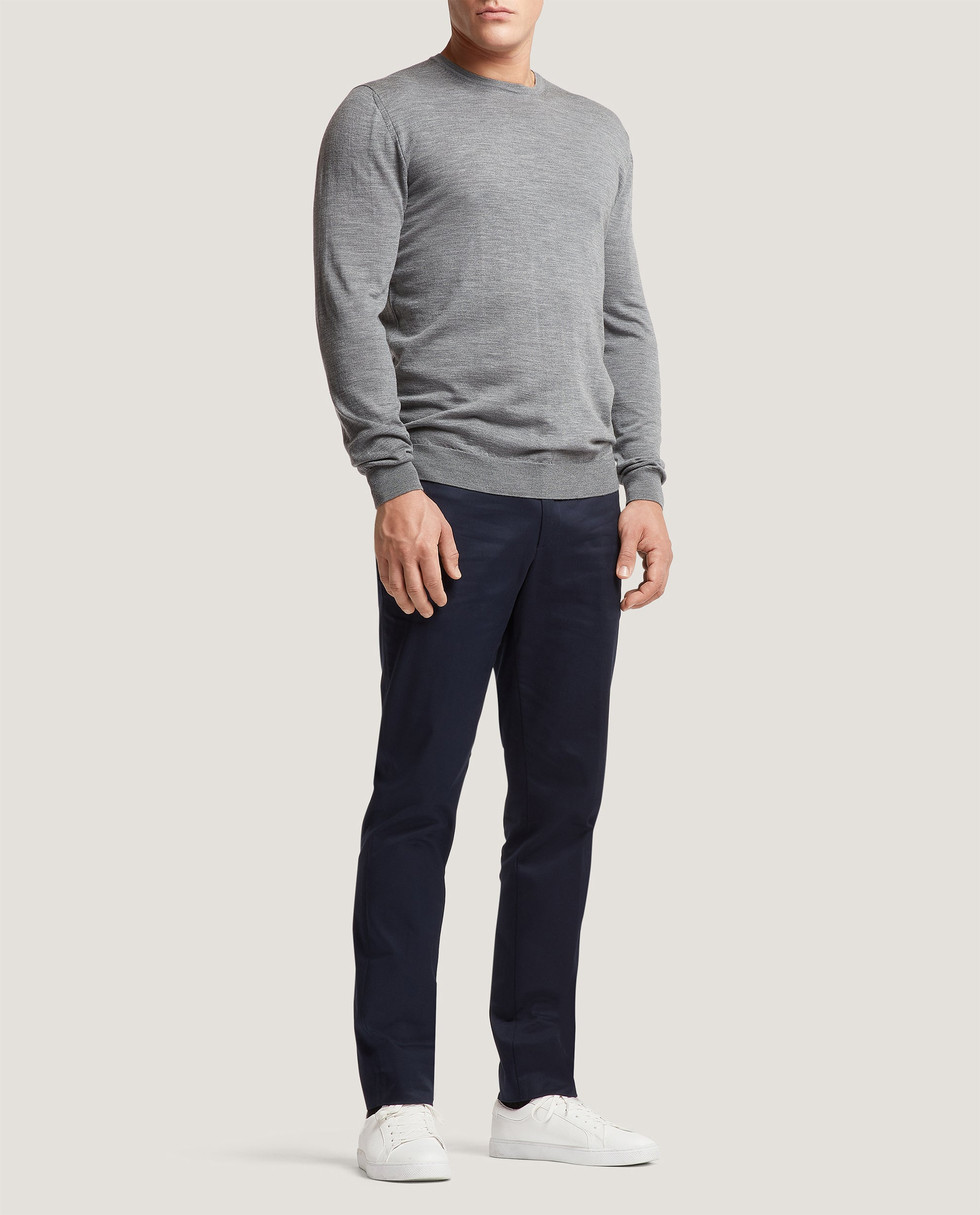 PAOL Merino wool sweater | Mid Grey