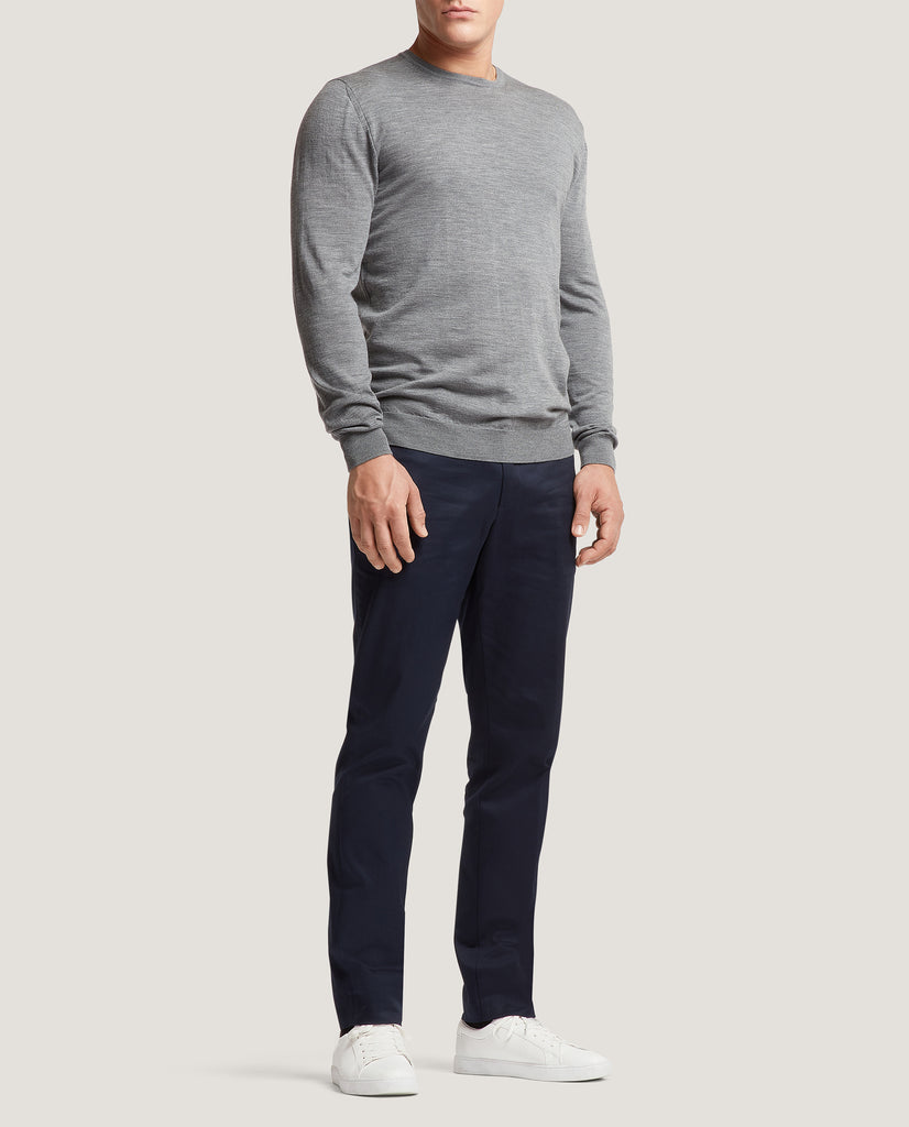 PAOL Merino wool sweater | Mid Grey by Salle Privée