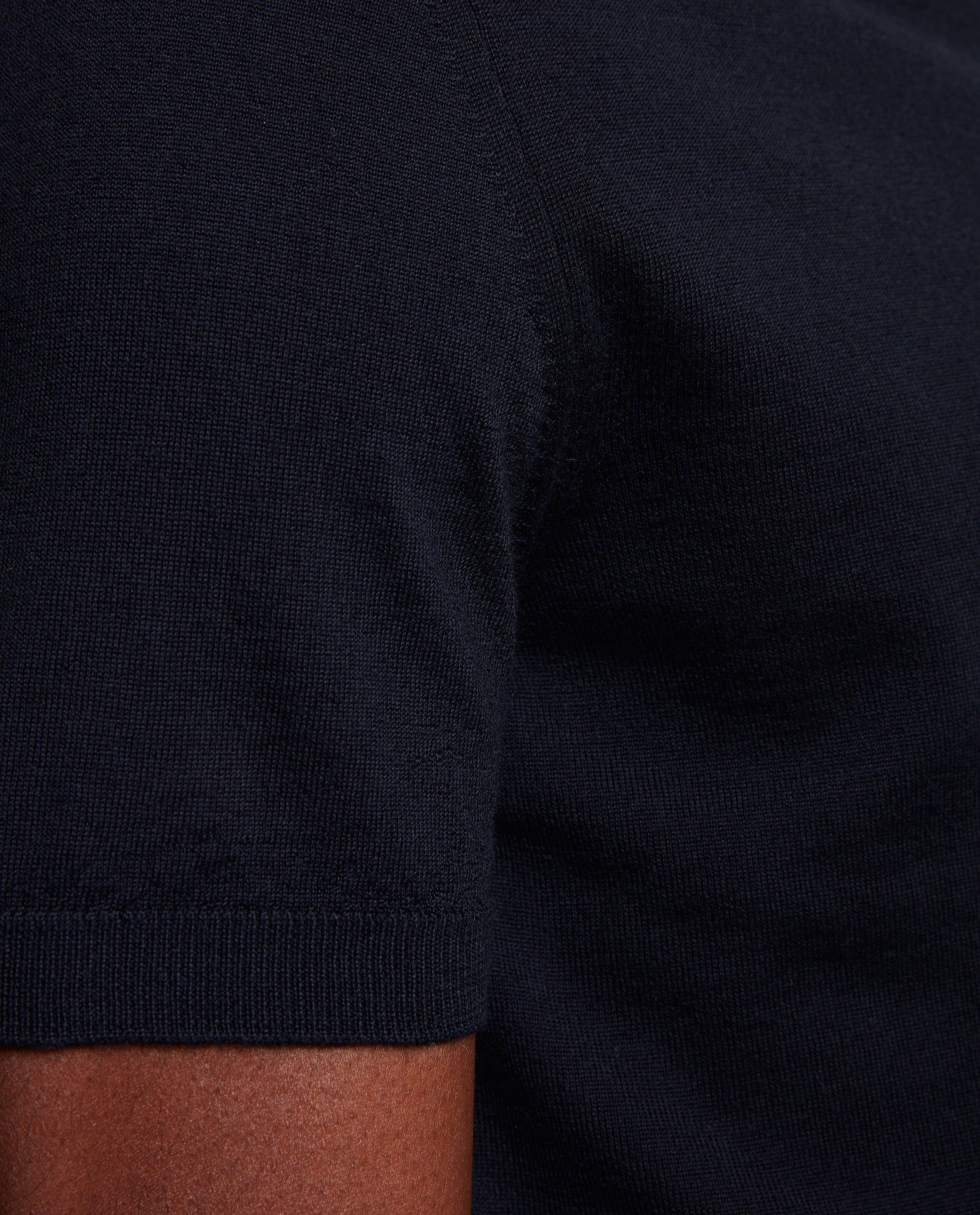 ELIEL Cashmere blend knit polo | Night Blue