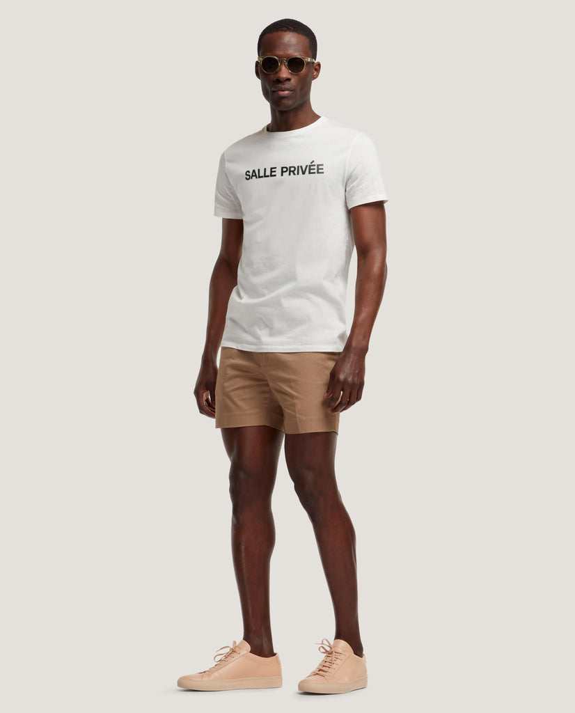 LOTHAR T-shirt | Cotton | Off White | Logo by Salle Privée