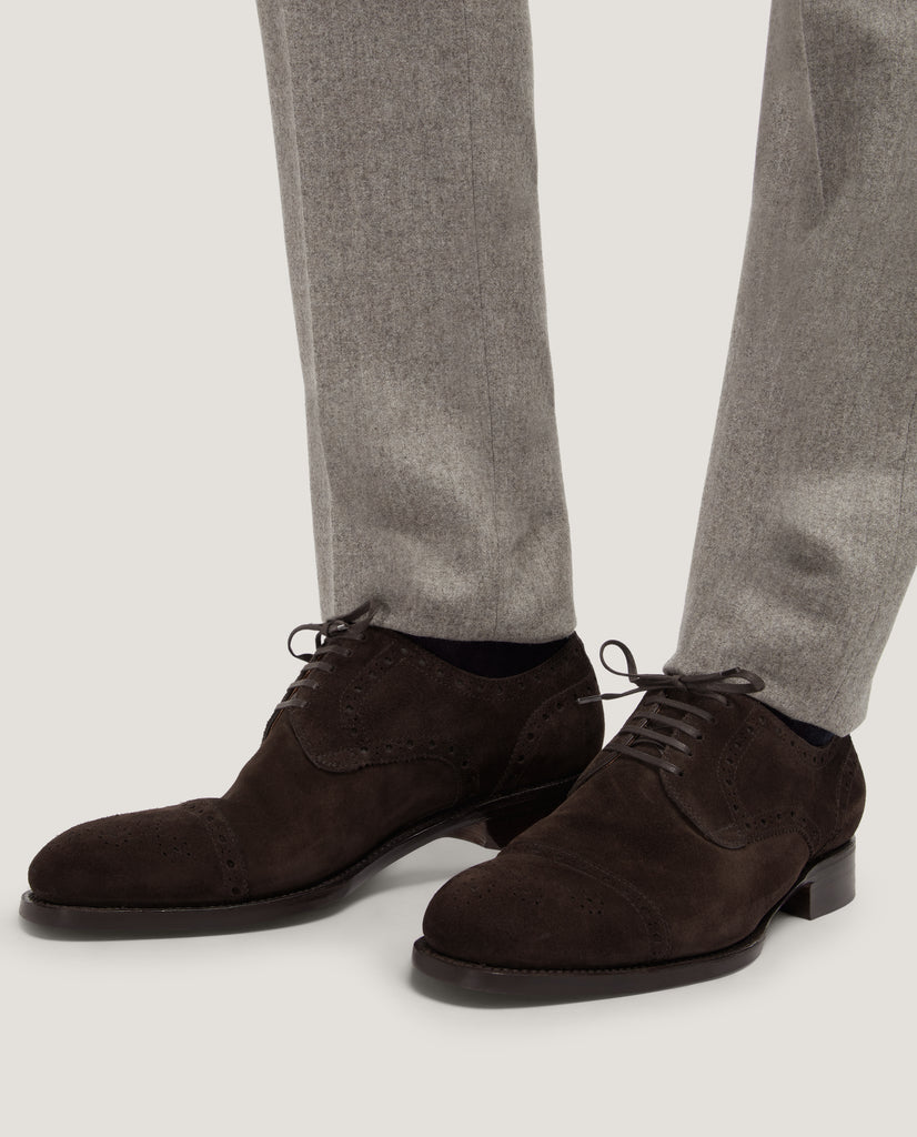 LOGAN Suede brogues by Salle Privée