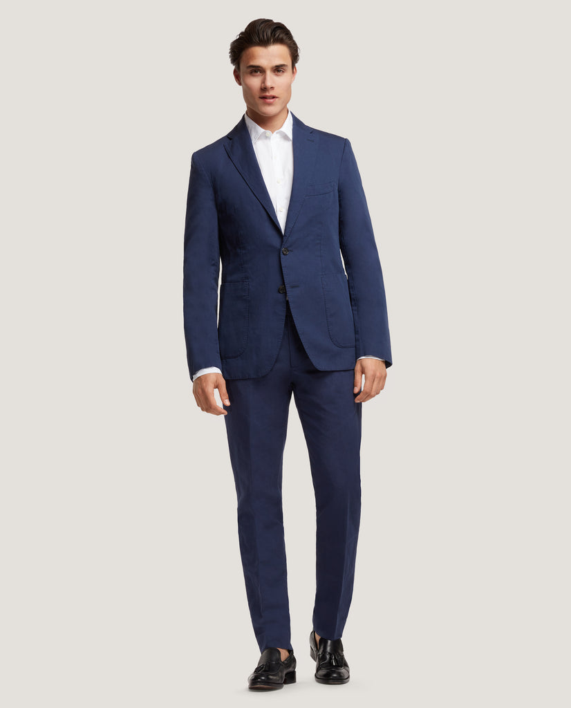 ROSS&GEHRY Summer suit | Cotton Linen | Blue by Salle Privée