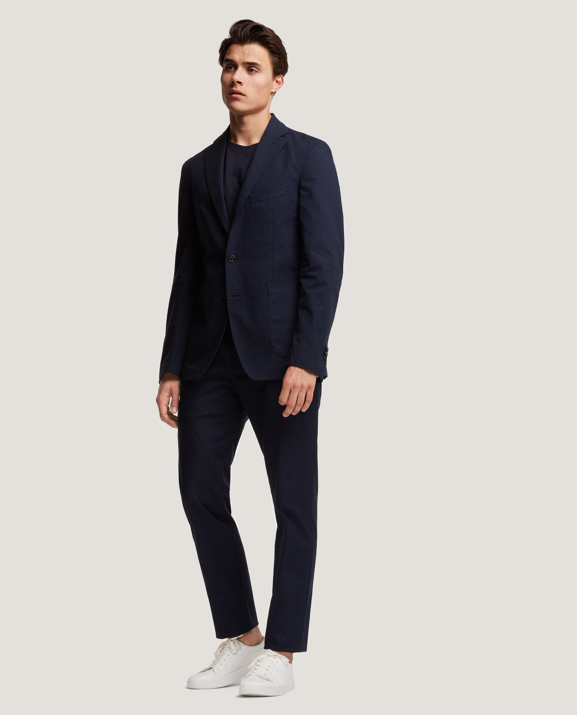 GEHRY Chino trousers | Slim fit | Cotton linen | Night Blue