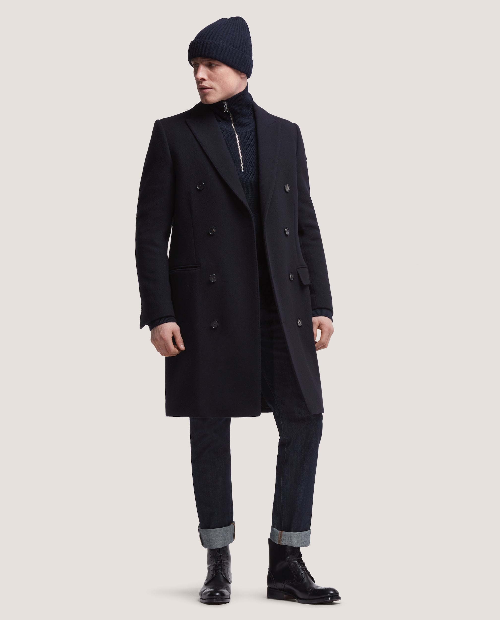 daed9b3fca1 IVES Double breasted wool overcoat