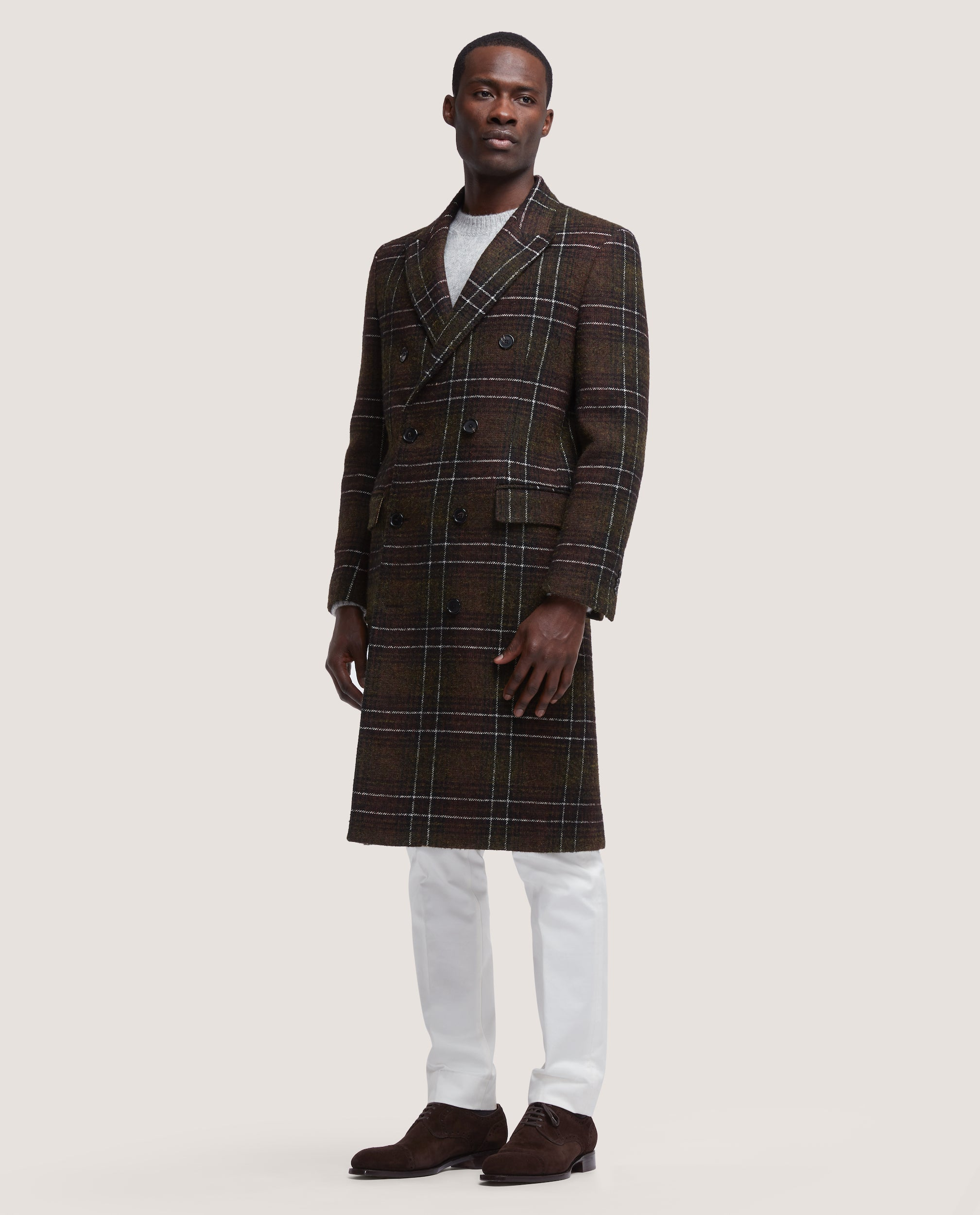 ALAIN DOUBLE BREASTED WOOL OVERCOAT SALLE PRIVÉE