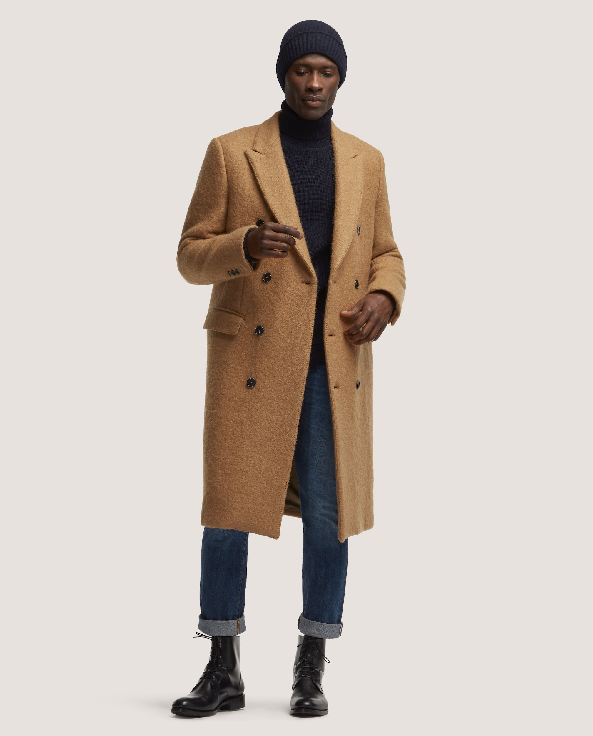 4ccff8344a0 1 7. ALAIN Double breasted wool overcoat ...